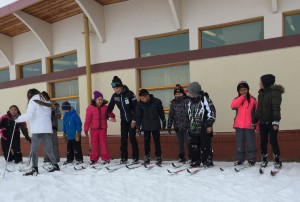 Olympic Gold Medalist and SFNA Program Director Beckie Scott joins the 'Saddle Lake Downhill Race.'